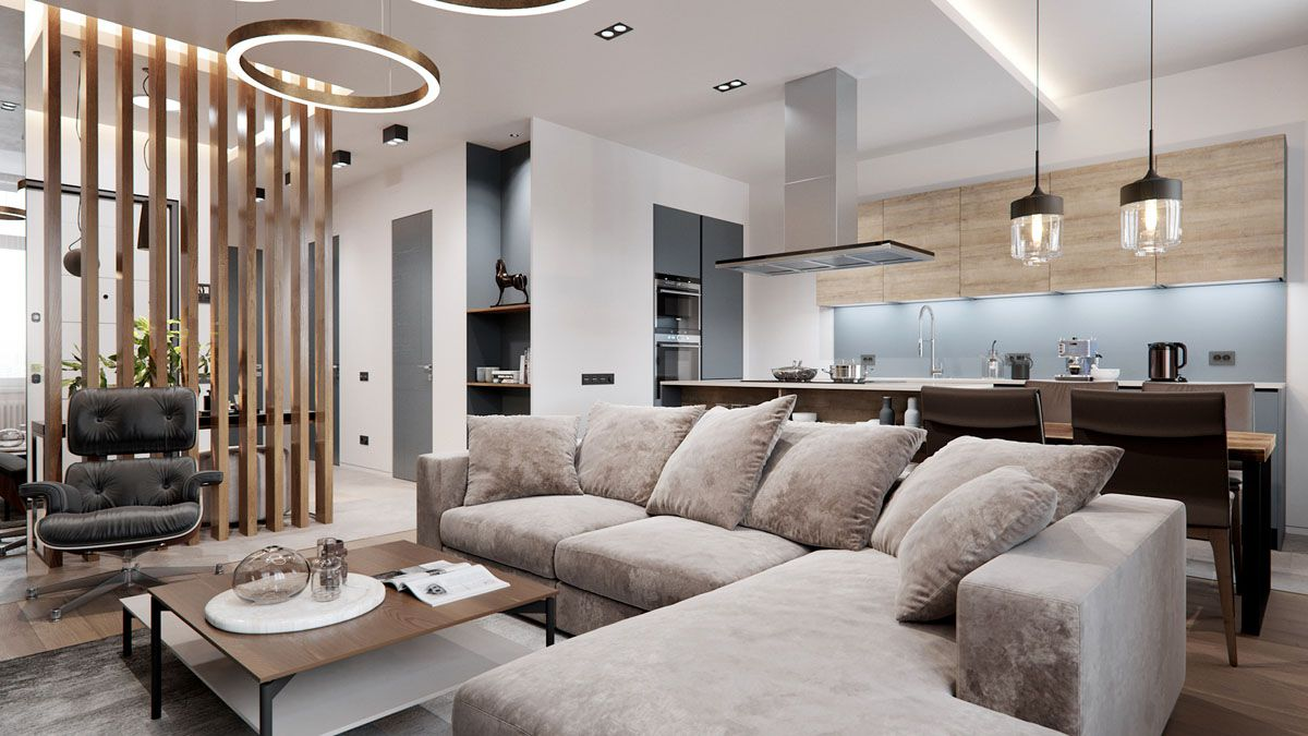 Thiết kế nội thất căn hộ 70m2 hiện đại nhất
