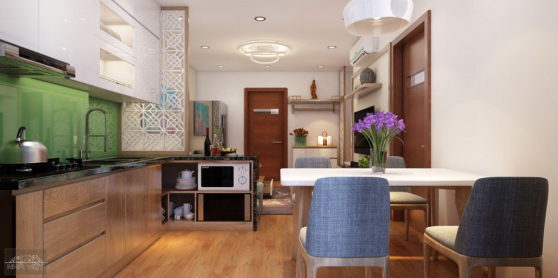 Thiết kế nội thất chung cư căn 01 V4 Home City 177 Trung Kính