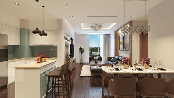 Thiết kế nội thất căn hộ 17 Park Hill 1 Times City
