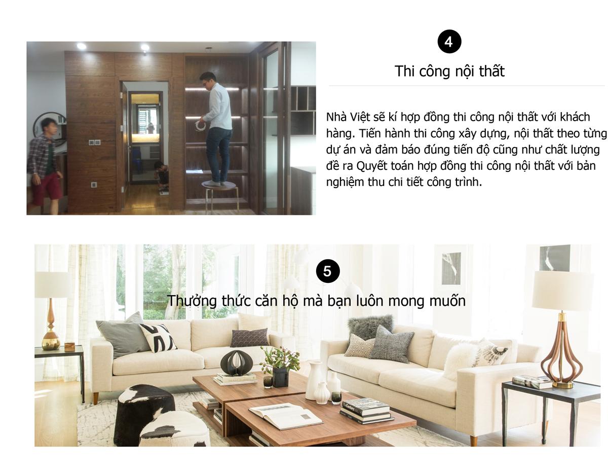 Quy trình thiết kế nội thất của công ty nhà việt